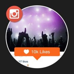 10k Instagram likes