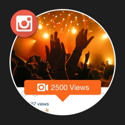 2500 Instagram Views for Videos