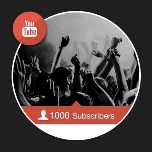 1000 Real Youtube Subscribers