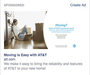 Facebook Ad AT&T