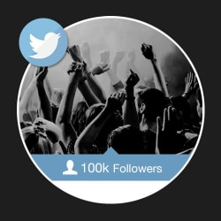 100k Twitter Followers